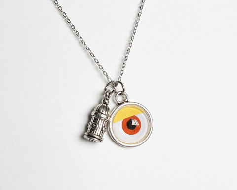 One-eye and Hydrant Charm Necklace - product images  of