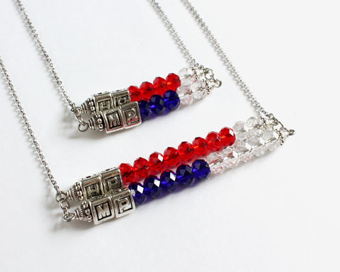 HP,&,MP,necklace,HP and MP necklace, HP MP necklace, HP MP accessories, game necklace, computer game necklace, video game necklace, adventure game necklace, red HP blue MP, HPMP necklace