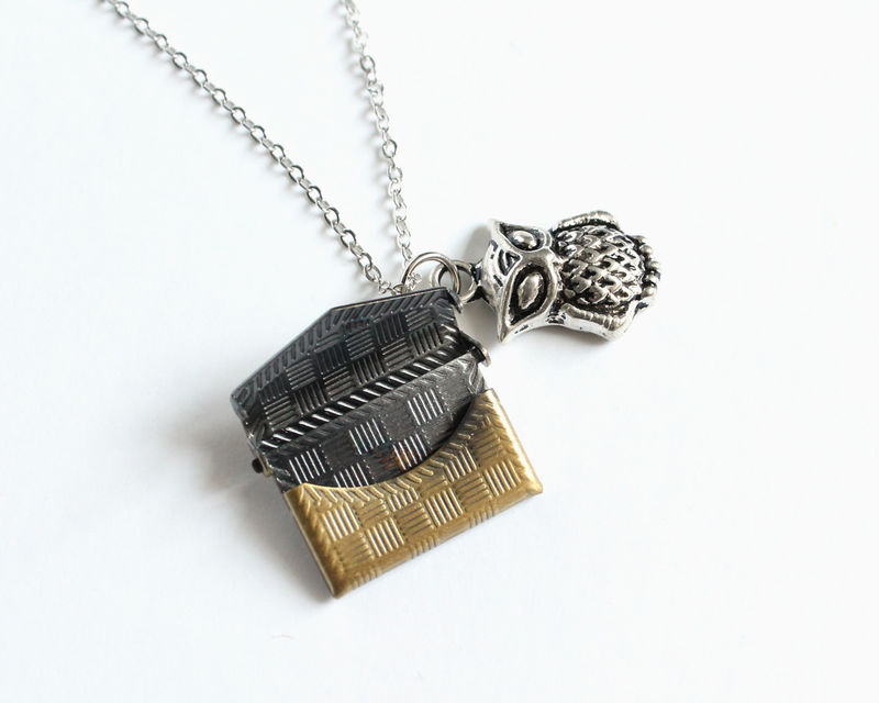 Owl Post Locket Necklace - product images  of