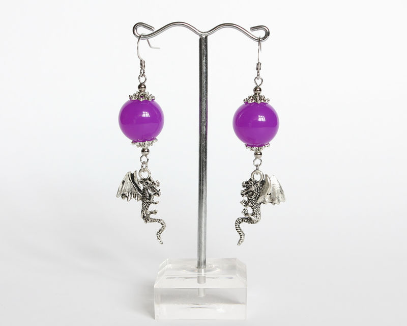 Maleficent Dragon Earrings (OUAT) - product images  of