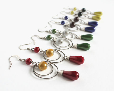 Wizarding,School,House,Earrings,harry potter earrings, hogwarts earrings, harry potter house earrings, hogwarts house earrings, gryffindor earrings, ravenclaw earrings, slytherin earrings, hufflepuff earrings