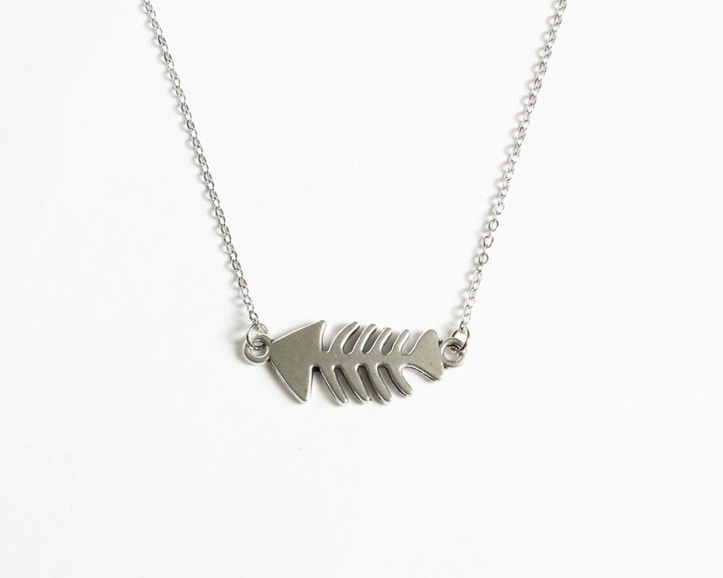 Fish Bone Necklace - product images  of