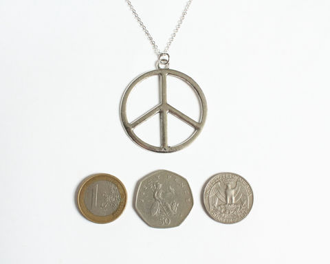 Large Peace Symbol Necklace - product images  of