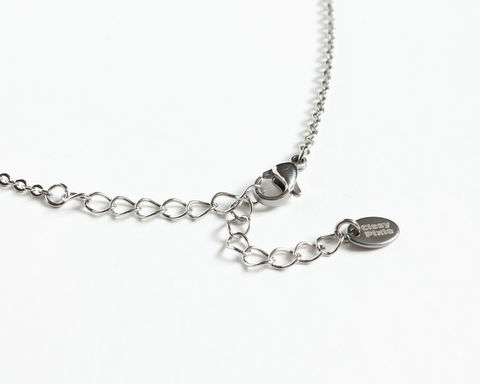 Colorful Small Beads Stainless Steel Necklace in Pink Orange Brown White Silver - product images  of