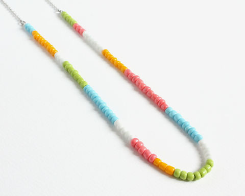 Colorful,Small,Beads,Stainless,Steel,Necklace,in,Pastel,Colors,handmade colorful necklace, colorful small beads necklace, colorful mini beads necklace, handmade hipster necklace, pastel color necklace, pastel beaded necklace, pastel theme necklace, multicolor necklace