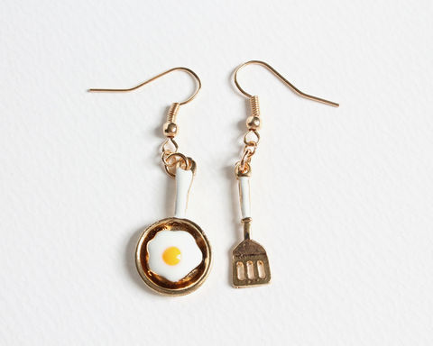 Frying Egg and Spatula Earrings - product images  of