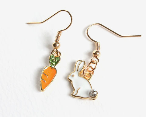 Bunny and Carrot Earrings - product images  of