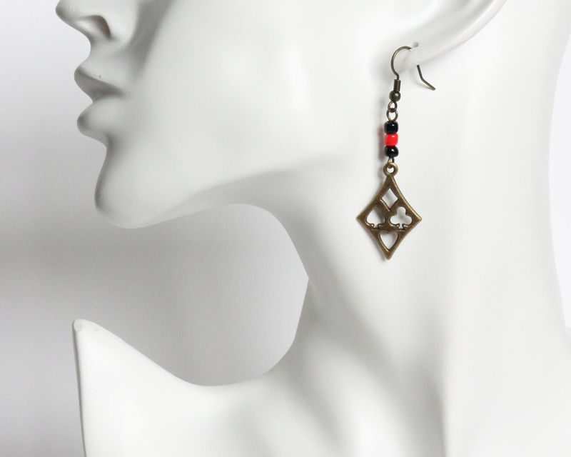 Playing Cards Poker Symbol Earrings - product images  of