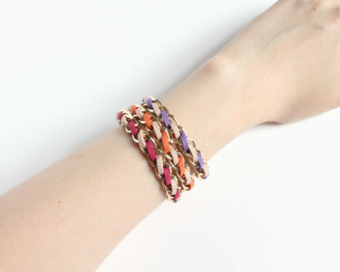 Warm Nude Faux Suede Stacking Bracelet - product images  of
