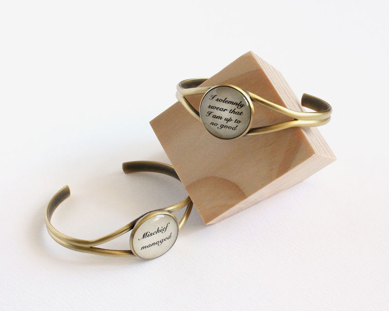 I solemnly swear that I am up to no good or mischief managed cuff bracelet - product images  of