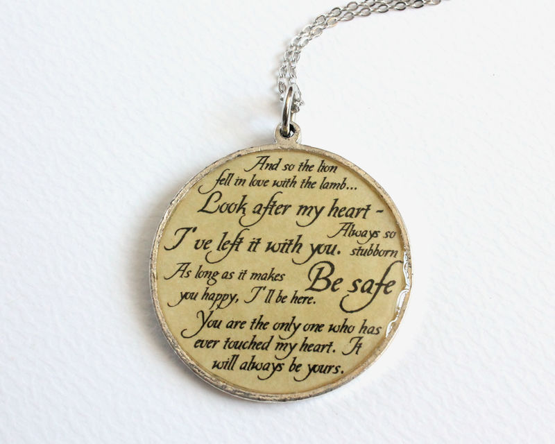 Edward Quotes Necklace (CLEARANCE) - product images  of