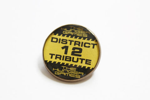 District,12,Tribute,Badge,(CLEARANCE),hunger games badge, hunger games brooch, hunger games district 12, hunger games tribute, hunger games pin