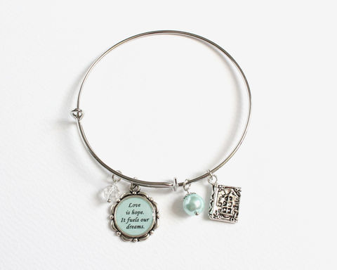 Simple Bangle Bracelet with OUAT theme charm - product images  of