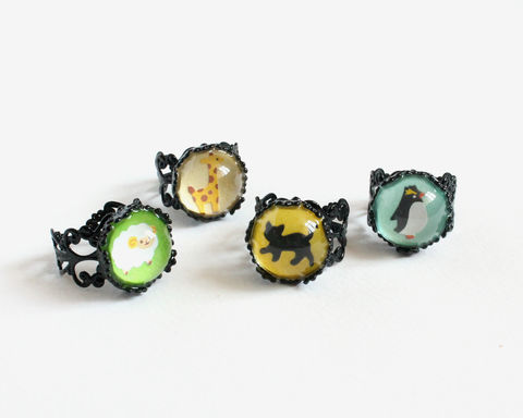Black cat ring - product images  of