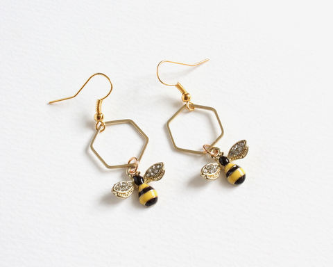 Bee and Honeycomb Earrings - product images  of