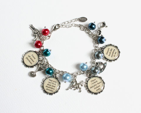 Artificial Human Quotes and Commands Charm Bracelet - product images  of