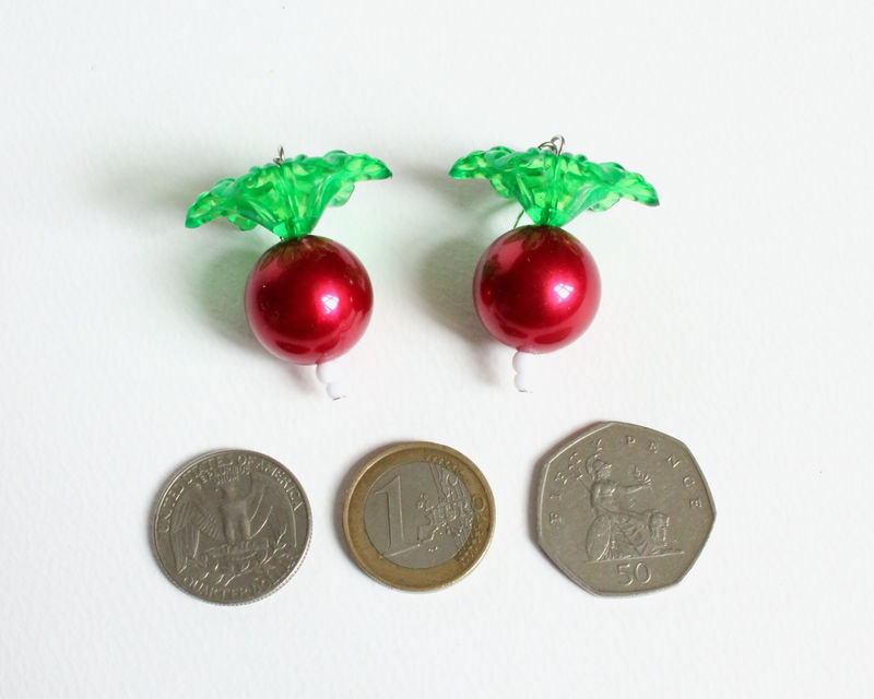 Large Luna's Radish Earrings - product images  of