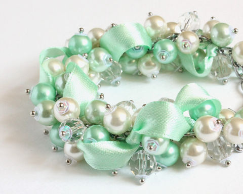Mint,Green,Cluster,Bracelet,and,Earrings,Set,mint green cluster bracelet, honeydew cluster bracelet, mint cluster bracelet, mint bracelet, mint jewelry set, mint bracelet earring set, honeydew green, honeydew bracelet, honeydew color, mint color, mint bridesmaid, mint wedding, mint green color