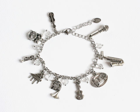 Musical Charm Bracelet Stainless Steel Chain - product images  of