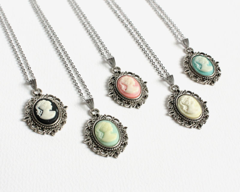 Mini Cameo Necklace (colors A) - product images  of