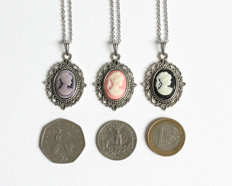 Mini Cameo Necklace (colors B) - product images  of