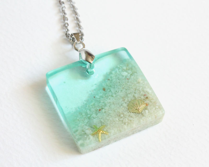 Beach with Seashell and Starfish Necklace - product images  of