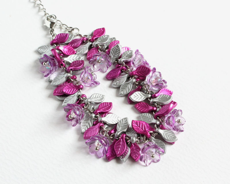 Mini Flowers and Leaves Bracelet (2 colors available) - product images  of