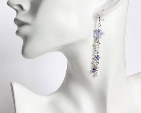 Purple Swarovski Shooting Star Earrings - product images  of
