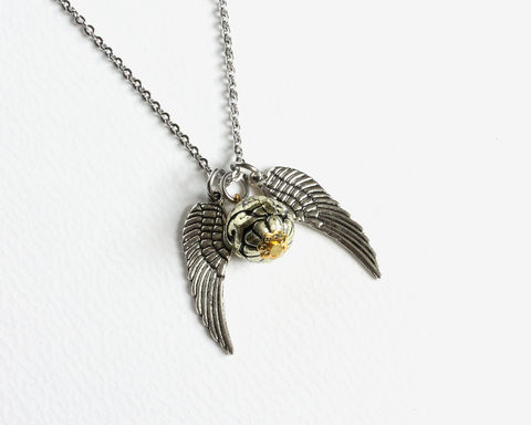 Large,Snitch,Necklace,harry potter necklace, golden snitch necklace, large snitch necklace, silver snitch necklace