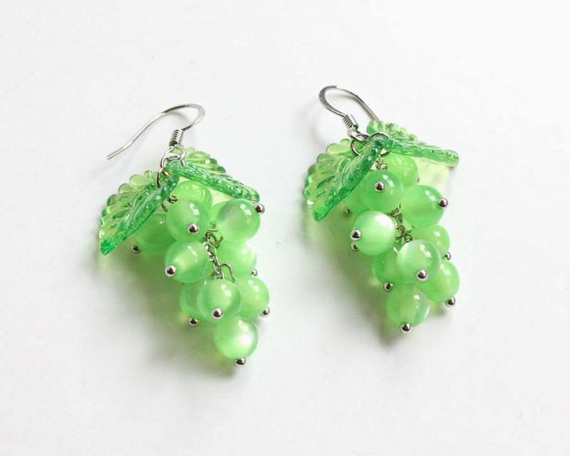 Green Grape Earrings - product images  of