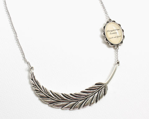 Wingardium,Leviosa,Feather,Necklace,feather necklace, long feather necklace,  Wingardium Leviosa Necklace, harry potter necklace, harry potter jewelry, silver feather necklace, large feather necklace, large bronze feather