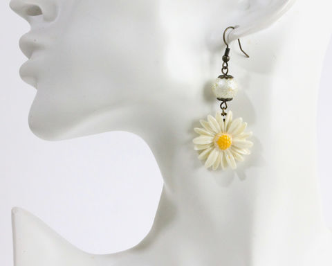 Large Daisy Earrings - product images  of