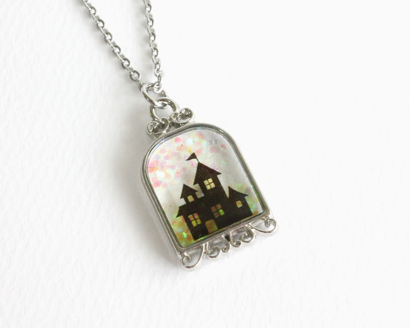 Castle Silhouette Necklace - product images  of
