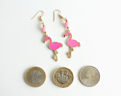 Pink Flamingo Earrings - product images  of