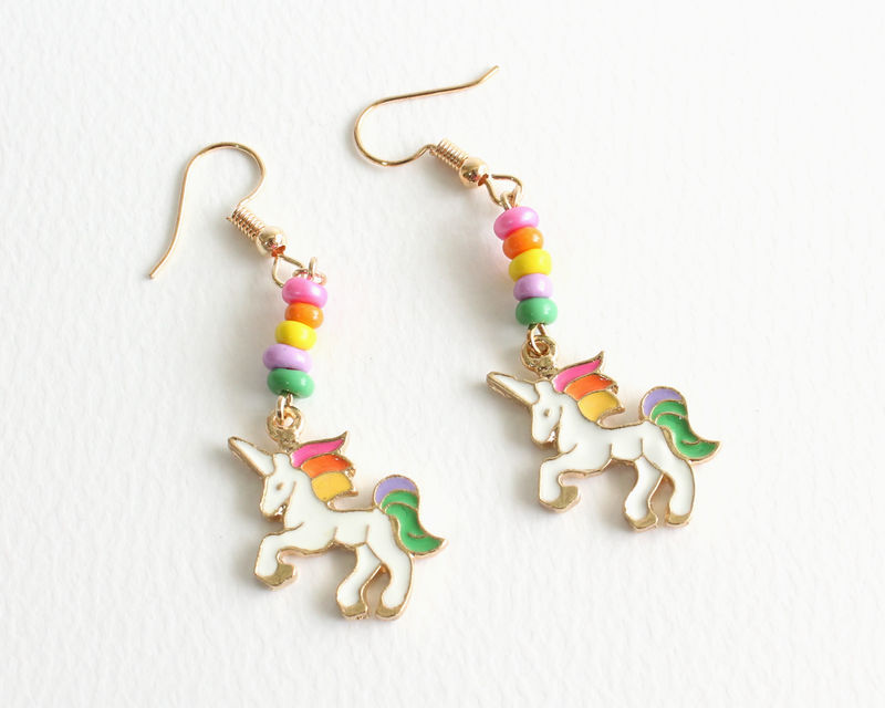 Rainbow Unicorn Earrings - product images  of