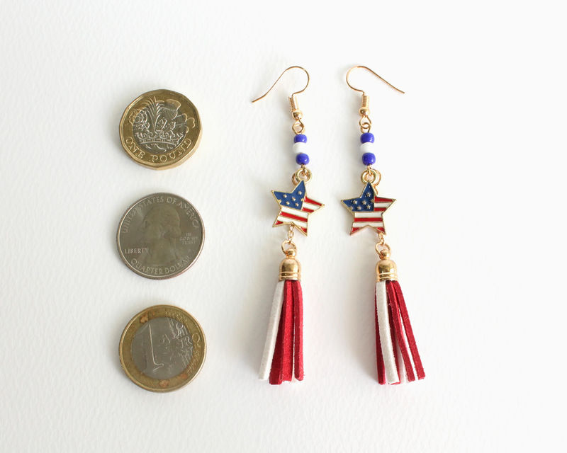 USA Star Flag Earrings - product images  of