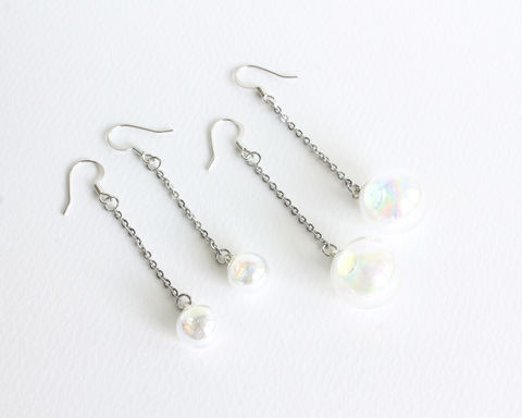 Dangle Glass Bubble Earrings - product images  of