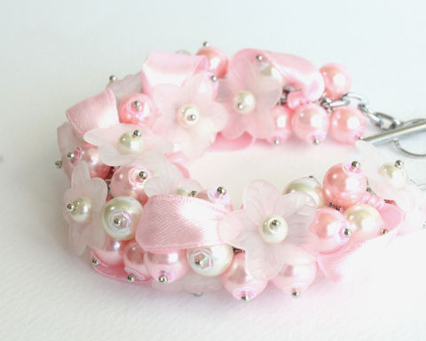 Baby,Pink,White,Flower,Cluster,Bracelet,and,Earrings,Set,pink cluster bracelet, pink bracelet, pink white bracelet, pink white cluster bracelet, pink bridesmaid jewelry, pink bridesmaid, pink wedding, baby pink bracelet, baby pink cluster bracelet, pearl bracelet, flower cluster bracelet, white flower bracelet