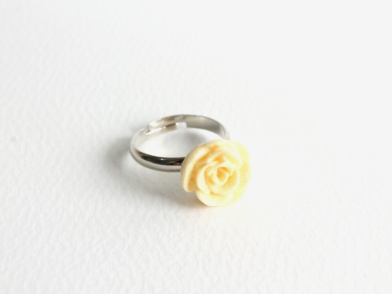 Small Glittering Rose Ring - product images  of
