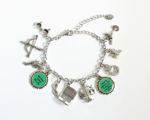 Arrow,Characters,Charm,Bracelet,Stainless,Steel,Chain,arrow charm bracelet, arrow characters charm bracelet, arrow tv bracelet, green arrow bracelet, oliver queen bracelet, oliver felicity, arrow oliver queen, arrow tv jewelry, tv arrow accessory, olicity, arrow felicity