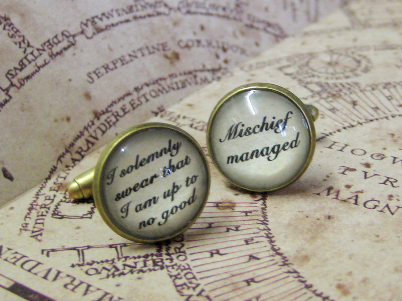 Marauders Spells Cuff Links - product images  of