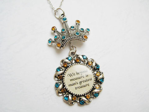 Lost Diadem and House Motto Necklace - product images  of