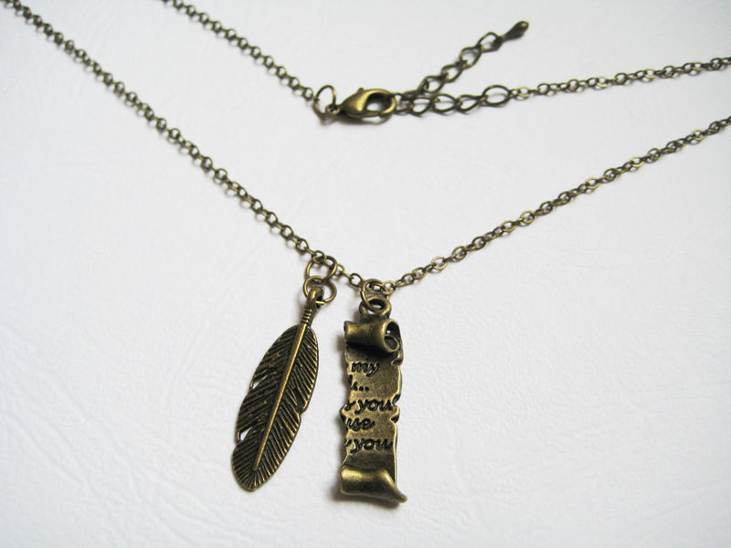 Parchment and Quill Necklace - product images  of