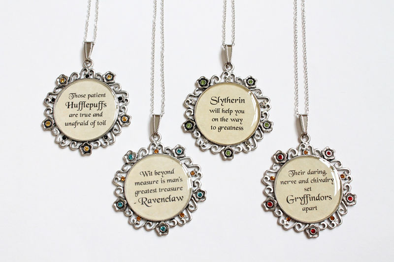 Wizarding School House Motto Necklace (CLEARANCE) - product images  of