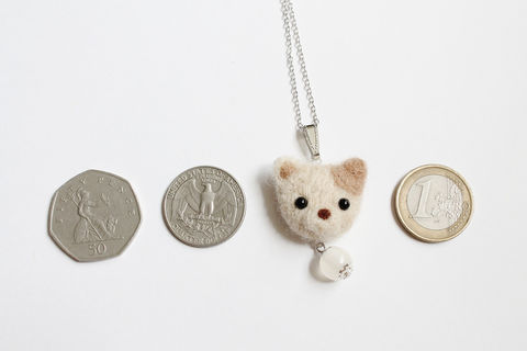 Needle Felted Puppy Necklace - product images  of