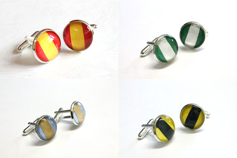 Wizarding,House,Cuff,Links,gryffindor cuff links, hufflepuff cuff links, harry potter cuff links, hogwarts cuff links