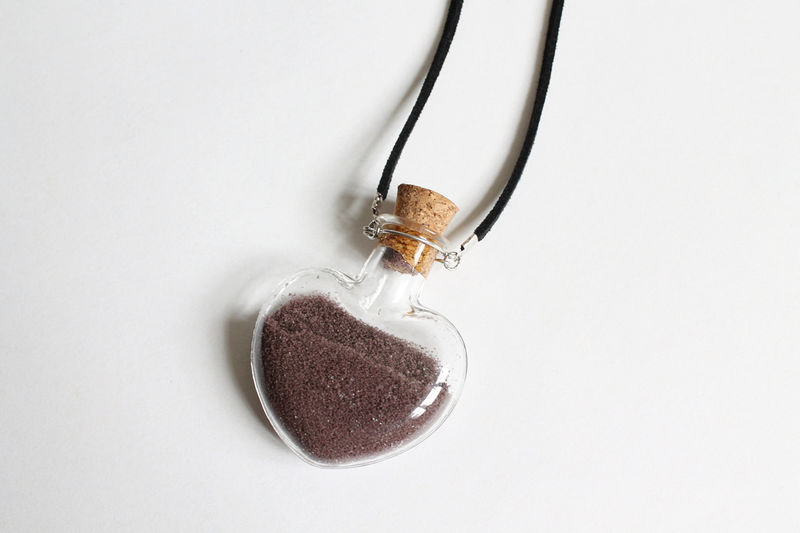 Snow's Necklace (OUAT) / Glitter Heart Vial Necklace - product images  of