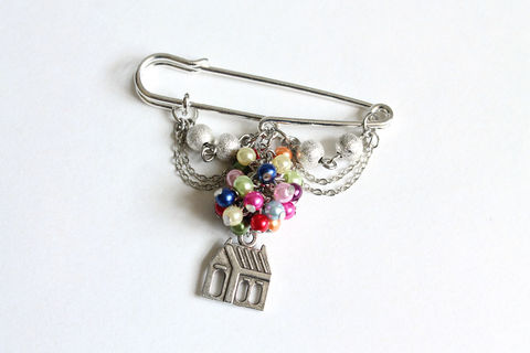 Flying House Kilt Pin - product images  of