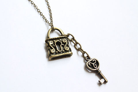 Lock and Key Necklace - product images  of