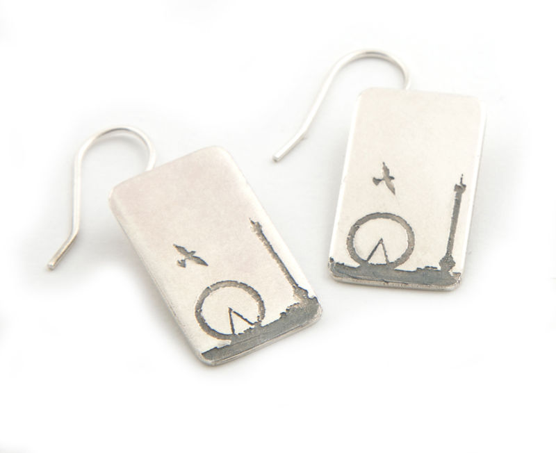 London Eye and Nelson's Column Earrings - product images